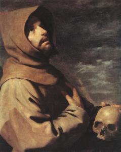 """Francisco de Zurbaran, """"Sf. Francisc"""", 1660"""