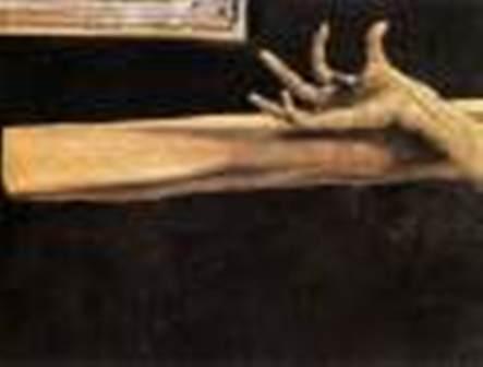 """Matthias Grünewald, """"Răstignirea"""" (1515) (detaliu)"""