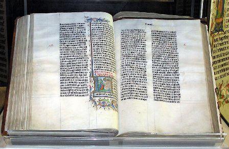 Manuscris al Vulgatei din sec. al XV-lea