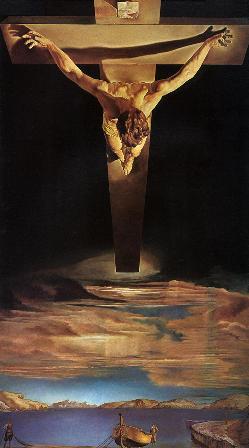 """Salvador Dali, """"Crucifixul sfântului Ioan al Crucii"""" (1951)"""
