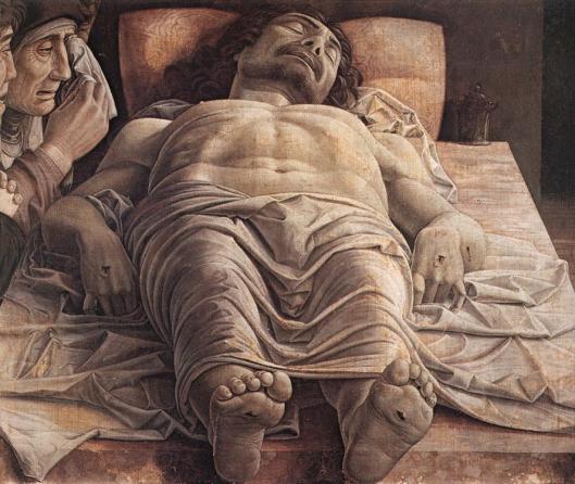 """Andrea Mantegna, """"Plângerea lui Cristos pus în mormânt"""" (cca. 1490)"""