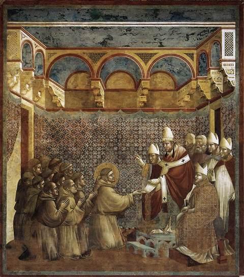 """Giotto, """"Confirmarea regulii sfântului Francisc"""" (1292-1299)"""