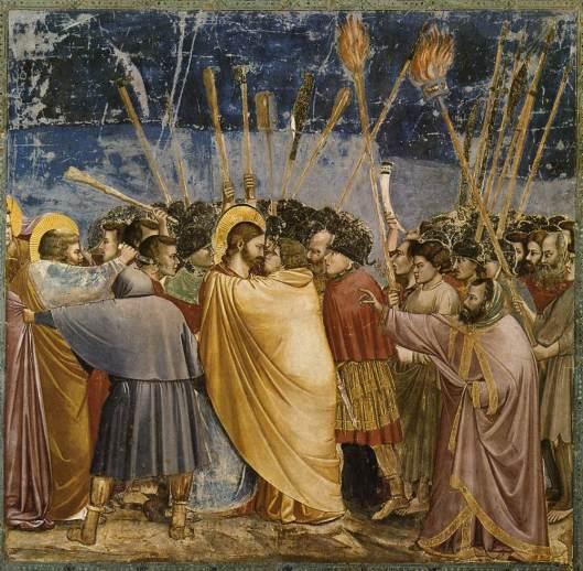 "Giotto, ""Sărutul lui Iuda"" (1304-1306)"