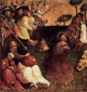 """Hans Multscher, """"Rugăciunea de pe Muntele Măslinilor"""" (1437)"""
