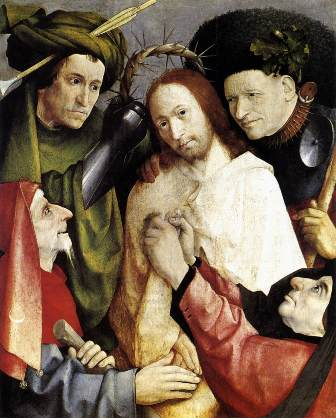 "Hieronymus Bosch, ""Cristos batjocorit"" (1495-1500)"