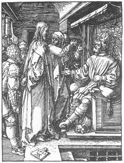 """Albrecht Dürer, """"Cristos înaintea lui Irod"""" (1509)"""