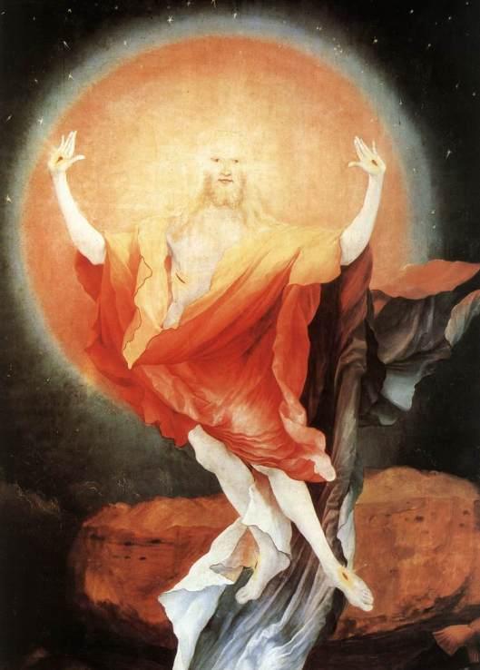 "Matthias Grünewald, ""Învierea"" (1515) (detaliu)"